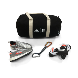 Bundle: Climbing and approach shoes, sports bag, quickdraw, Reel Rock ticket by adidas Five-Ten