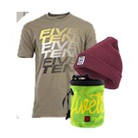 FiveTen Package (T-shirt, Beanie, Chalk bag) by FiveTen